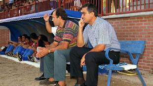 Gregorio Manzano, en el banquillo en su etapa como entrenador del...