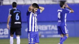 Carlos Martínez se lamenta de una ocasión en el pasado Lorca-Lugo