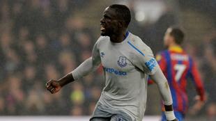 Niasse celebra el gol del 2-2 ante el 'Palace'