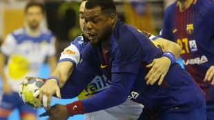 Cedric Sorhaindo, en el partido que el Barcelona jugó el martes en...