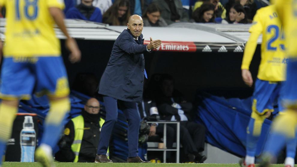 Ayestarán, en el encuentro entre Real Madrid y Las Palmas