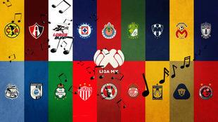 Las canciones de los equipos de la Liga MX