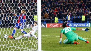 El momento del gol del Basilea