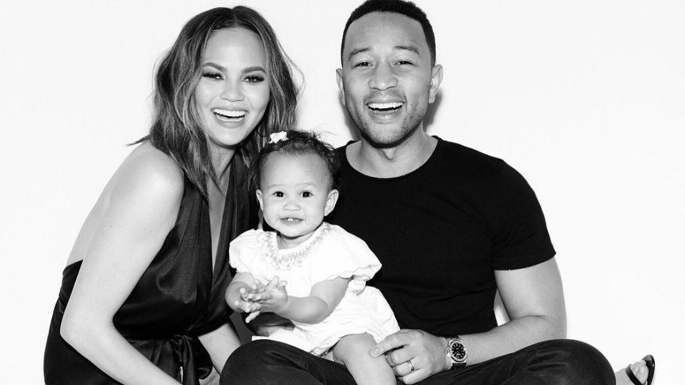Chrissy Teigen, John Legend y su hija Luna