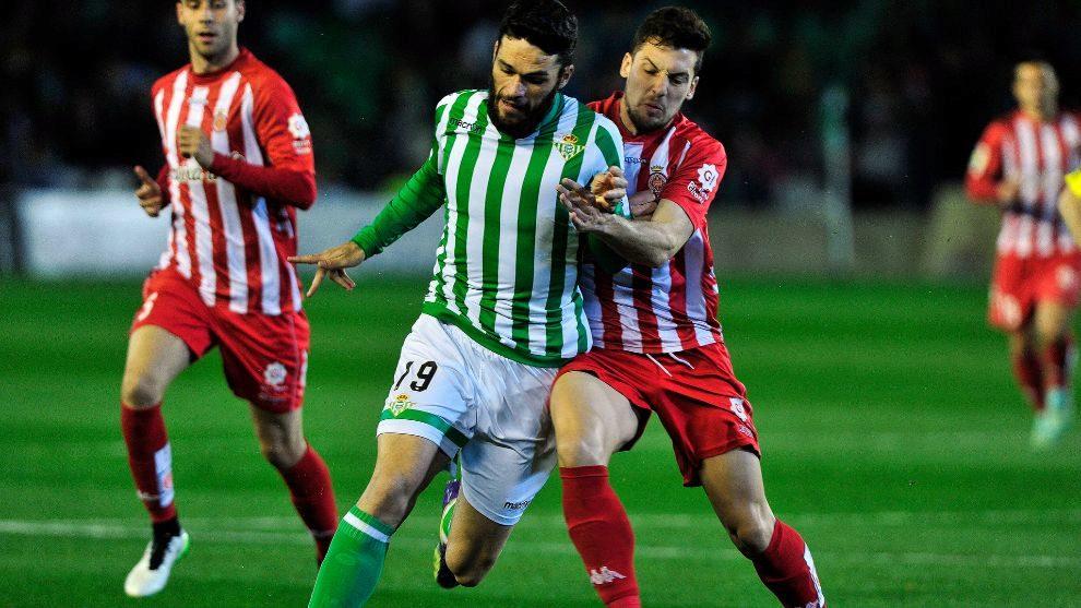 Molina, en el último Betis-Girona