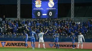 Un momento del partido de ida en el Fernando Torres cuando el marcador...