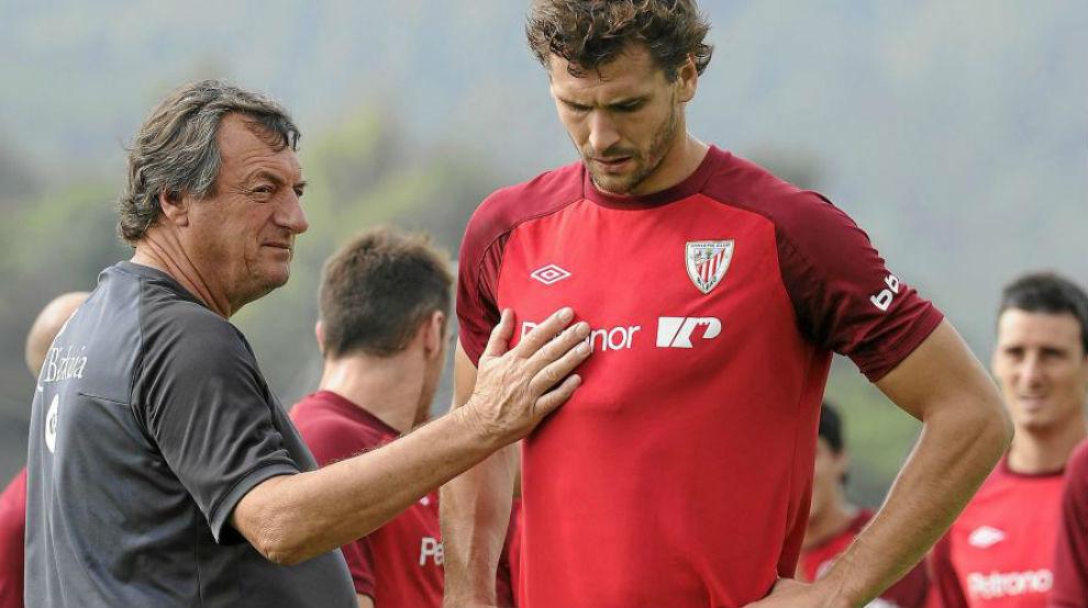 Bonini con Fernando Llorente en su etapa en el Athletic.