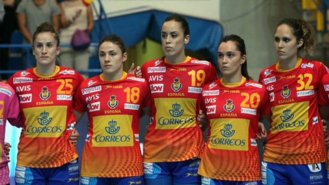 La selección femenina, en su última visita a Melilla.