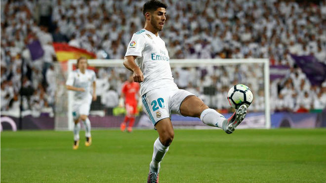 Marco Asensio, in a match this season
