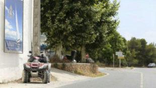 El quad de Nieto, tras el accidente.