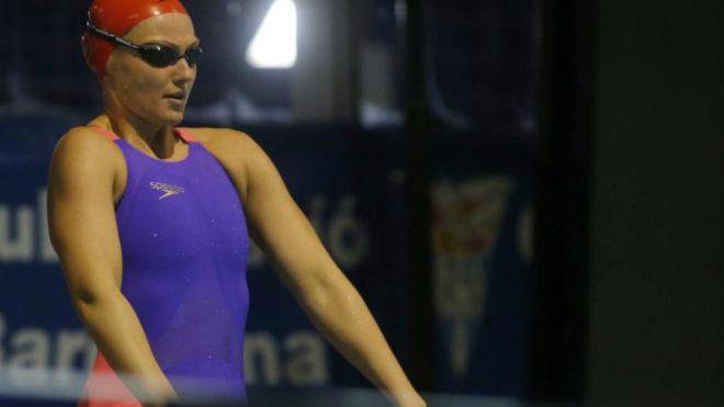 Melani Costa durante la primera jornada de los campeonatos.