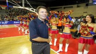 Joan Montes en su etapa como técnico del Barcelona