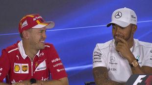 Hamilton y Vettel.