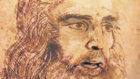 Alonso, caracterizado de Leonardo Da Vinci en el famoso Autorretrato.
