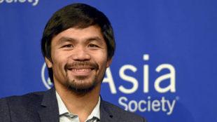 Manny Pacquiao, durante una conferencia de prensa