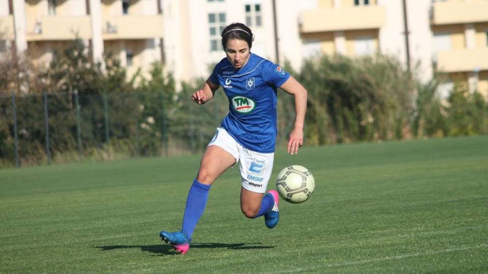 Ana Cate durante un partido con el Stjarnan Gardabaer.