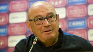 Xavi Llorens, en una rueda de prensa.