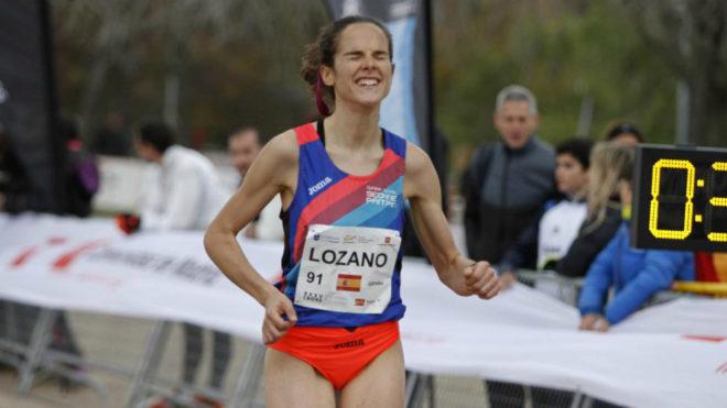 Ana Lozano, una de las atletas que se juega este domingo su presencia...
