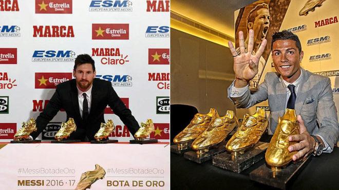Tokeo la picha la Ronaldo and Messi Golden Boot