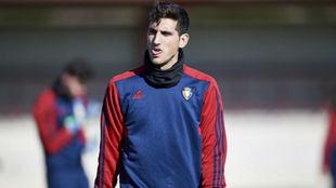 Herrera, durante un entrenamiento.