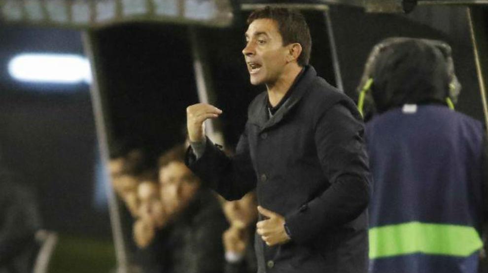Garitano durante el partido ante el Celta.