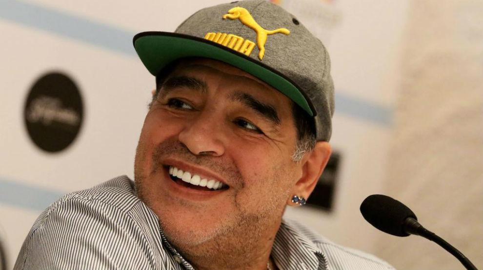 Diego Armando Maradona en una imagen de este año.