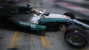 Lewis Hamilton en Abu Dabi