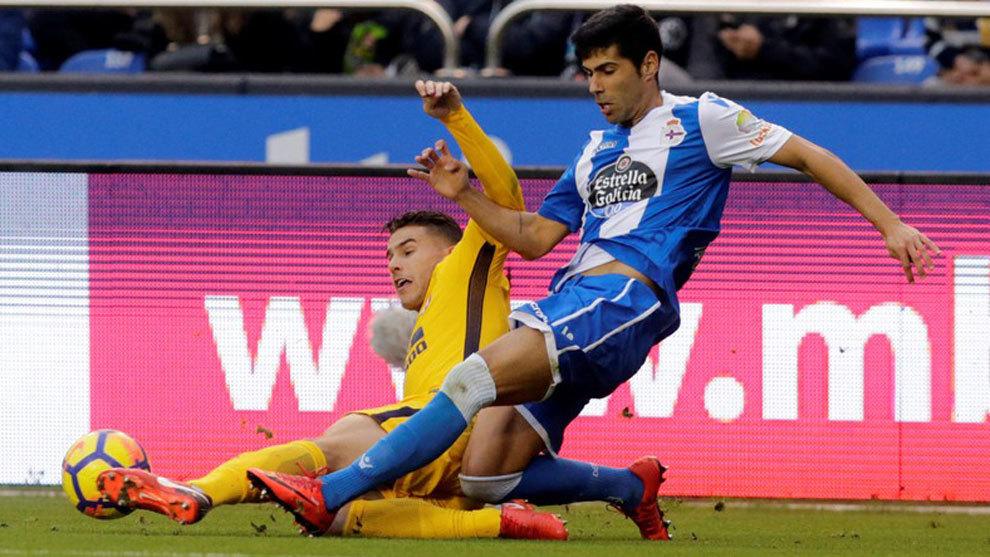 Juanfran Moreno, en el partido ante el Atlético de Madrid