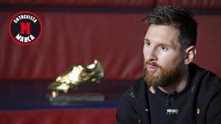 Messi, durante la entrevista con MARCA.