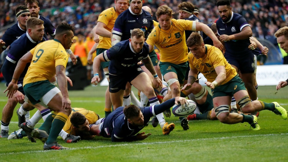Scots suffer Hogg blow in warm-up for Australia showdown