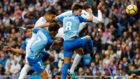 Casemiro cabecea para hacer el 2-1 del Real Madrid ante el M�laga