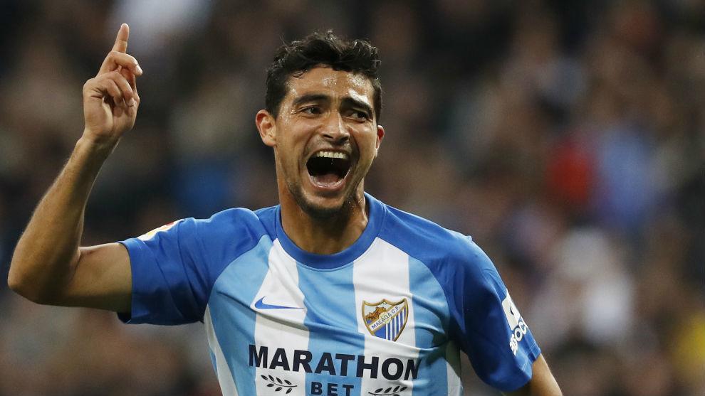 Chory Castro celebra su gol ante el Madrid