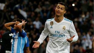 Ronaldo, tras marcar ante el Málaga
