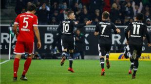 Hazard celebra el gol del 1-0