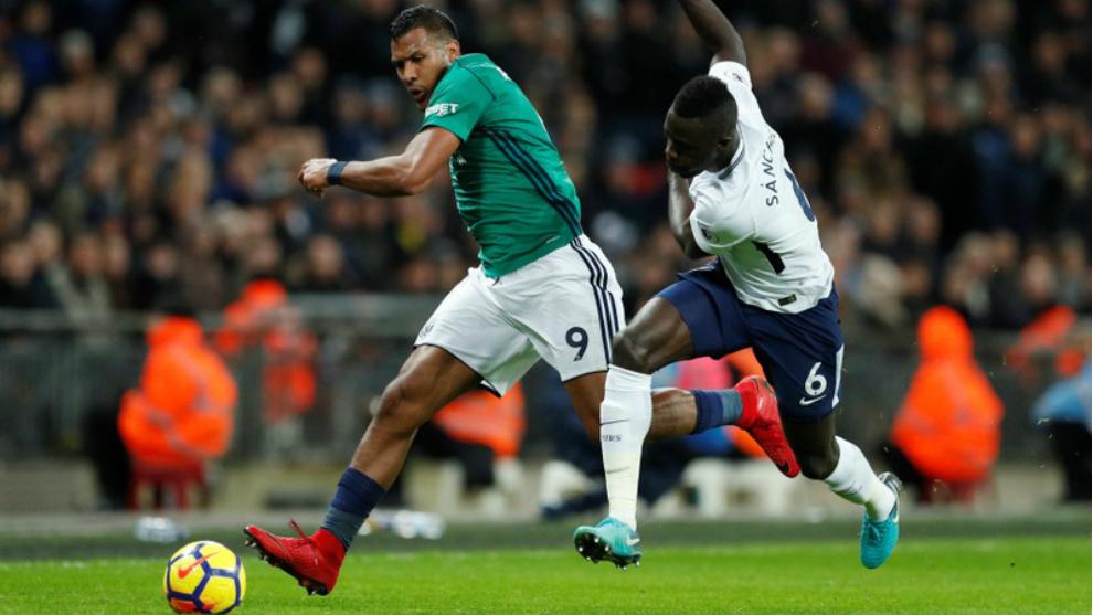 Salomón Rondón, durante el partido frente al Tottenham.