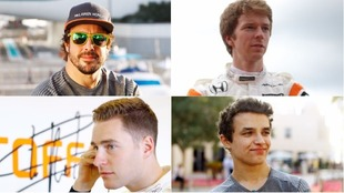 Alonso, Turvey, Vandoorne y Norris