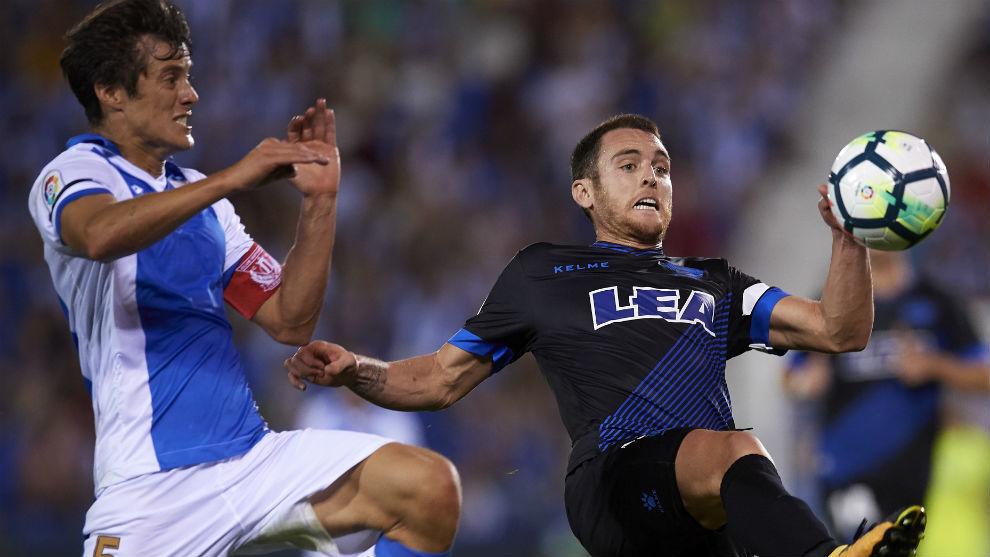 Mantovani en el partido ante el Alavés