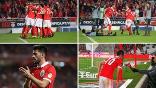 Festejo del Benfica