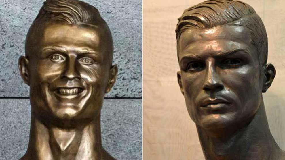 el nuevo busto de cristiano ronaldo también se hace viral marca com