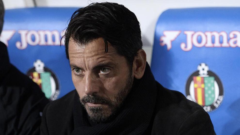Quique Sánchez Flores, durante un partido entre el Getafe y el...