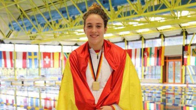 Antía García, con la medalla de oro.