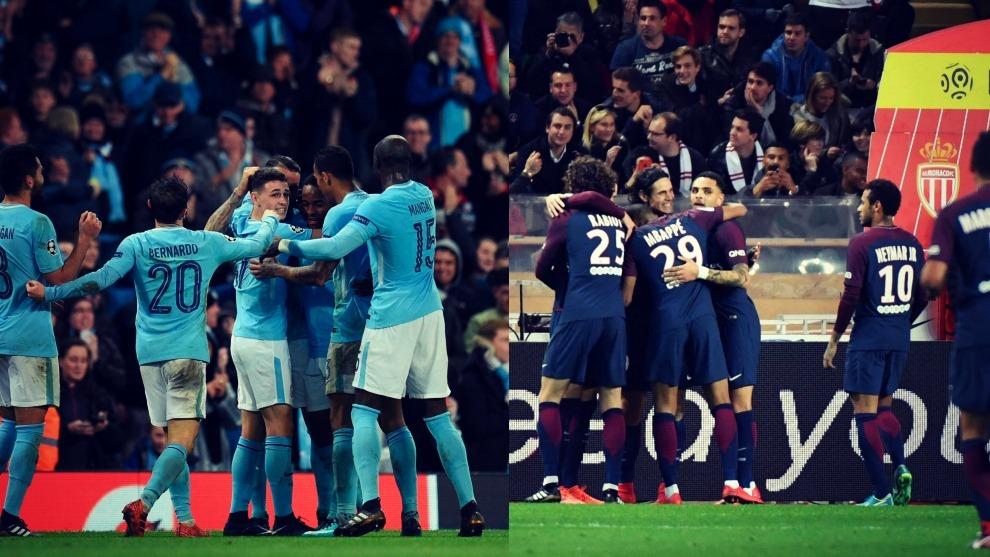 Manchester City y PSG son los líderes con las mayores ventajas en las...