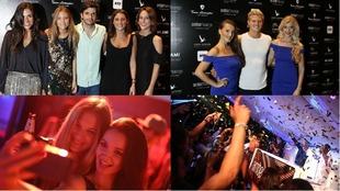 Diferentes momentos de la fiesta de la F1 en Abu Dabi
