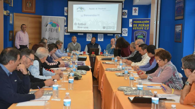 Reunión de presidentes de las Federaciones de Peñas en Getafe
