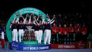 Francia y B�lgica, campe�n y subcampe�n de la Copa Davis 2017
