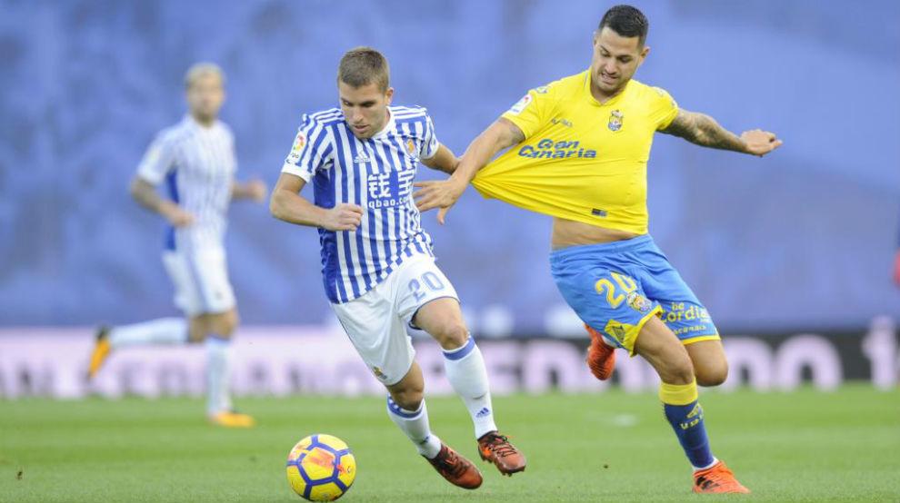 Vitolo el fin de semana pasada ante la Real Sociedad.