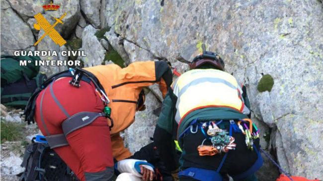 El heroico rescate de la Guardia Civil a dos montañeros independentistas