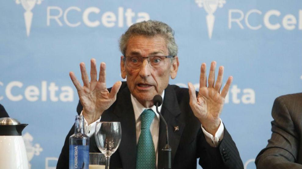 Carlos Mouriño durante una rueda de prensa.