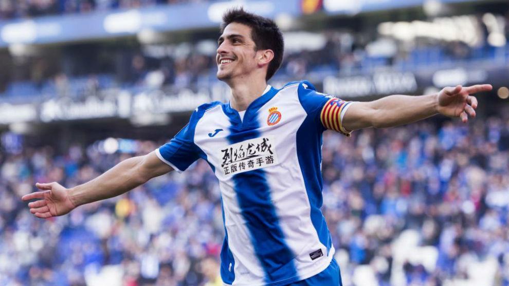Gerard Moreno celebra un gol el curso pasado.