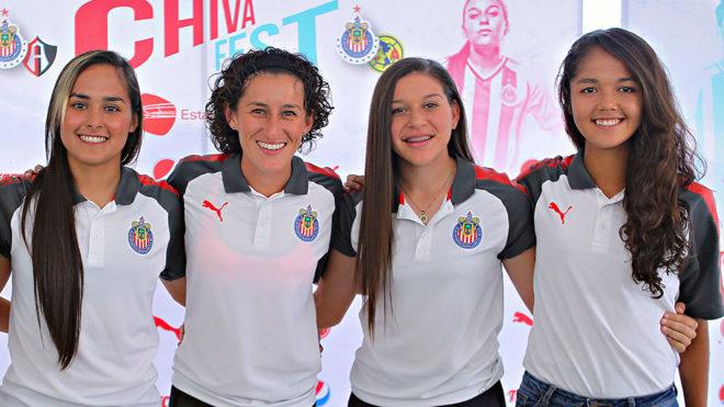 Cuatro jugadoras de chivas convocadas a distintas selecciones.